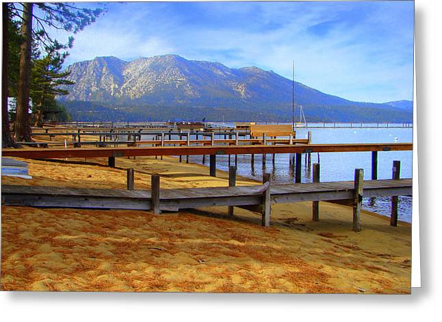 Lake Tahoe At  Camp Richardson Greeting Card by Juliet Mevi-Shiflett