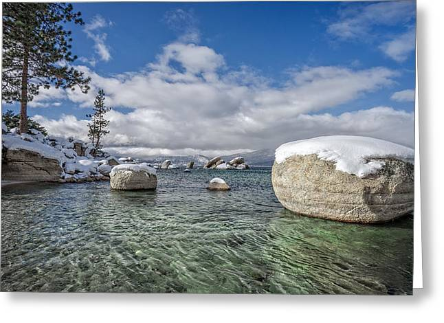 Lake Tahoe At Sand Harbor Greeting Card by Dianne Phelps