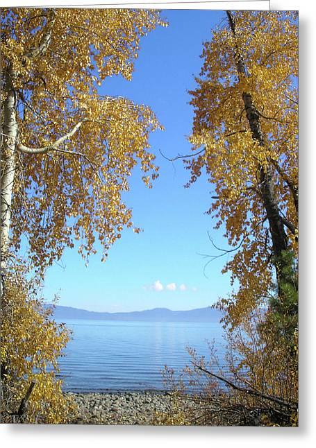 Lake Tahoe Autumn Greeting Card