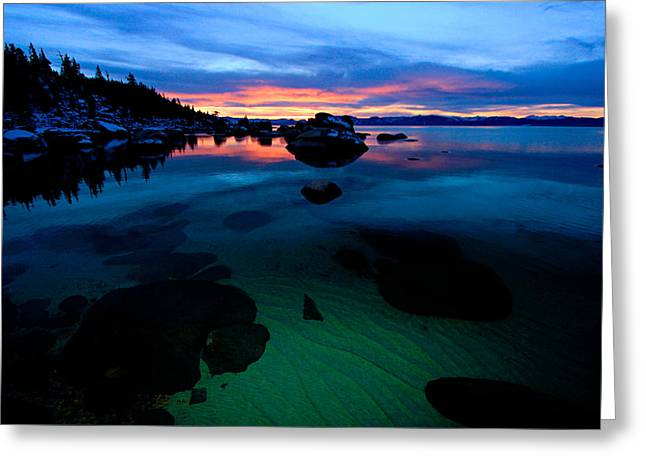 Lake Tahoe Clarity At Sundown Greeting Card
