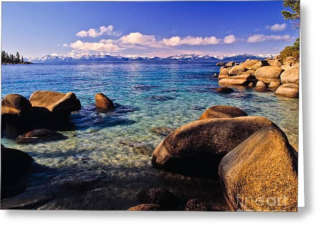 Lake Tahoe Cove Greeting Card