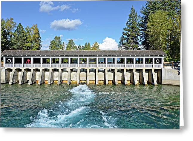 Lake Tahoe Dam Greeting Card