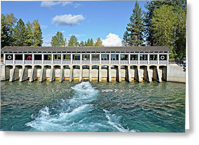 Greeting Card featuring the photograph Lake Tahoe Dam by David Lawson