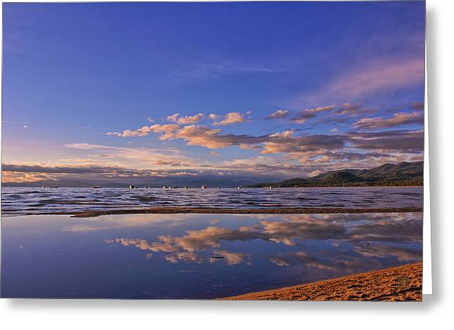 Lake Tahoe Evening Greeting Card