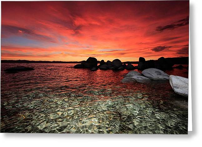 Lake Tahoe Liquid Dreams Greeting Card