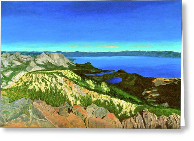 Lake Tahoe Panorama Greeting Card