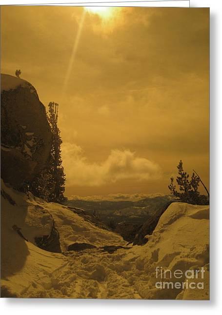 Lake Tahoe  Greeting Card by Paula Deutz