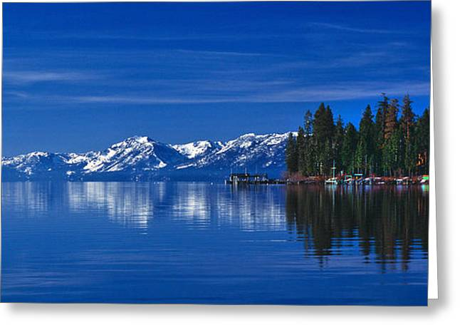 Lake Tahoe Reflections Greeting Card by Vance Fox