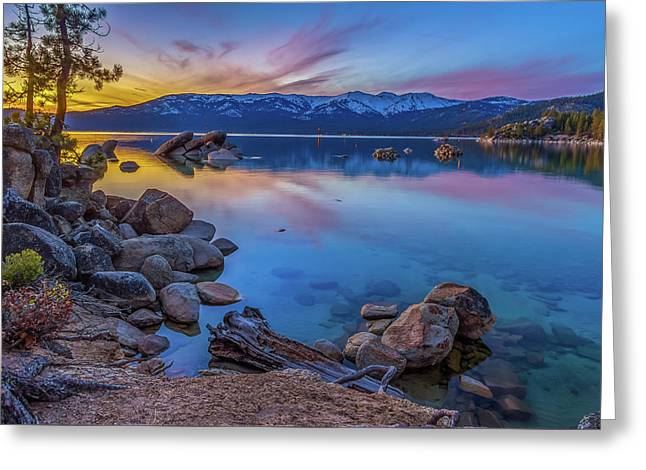 Lake Tahoe Spring Kaleidoscope  Greeting Card by Scott McGuire