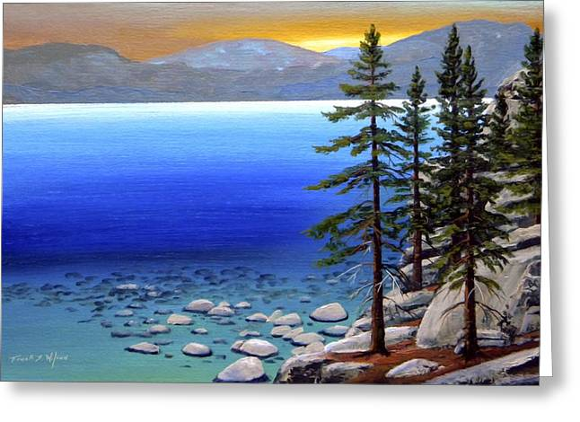 Lake Tahoe Sunrise Greeting Card