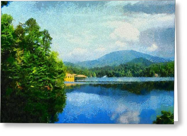 Lake Tahoma In Marion Nc Greeting Card by Elizabeth Coats