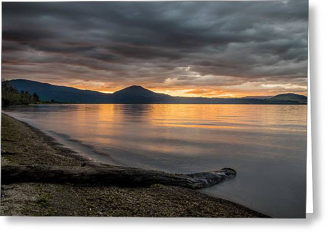 Lake Taupo Greeting Card by Martin Capek