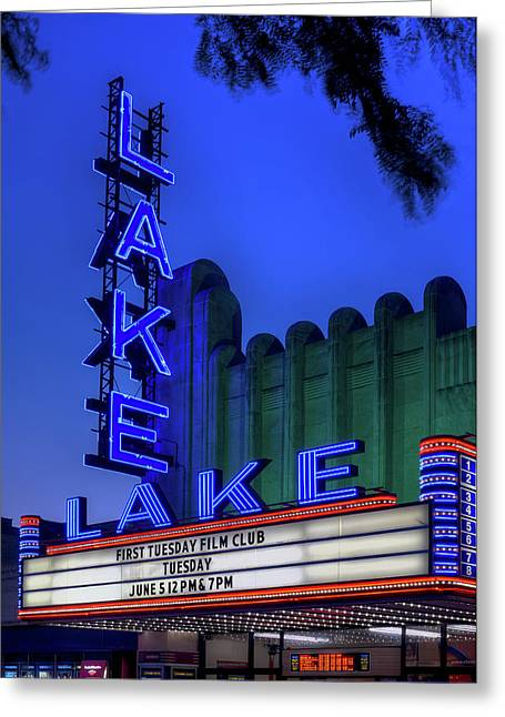 Lake Theater Oak Park Il Greeting Card by Steve Gadomski