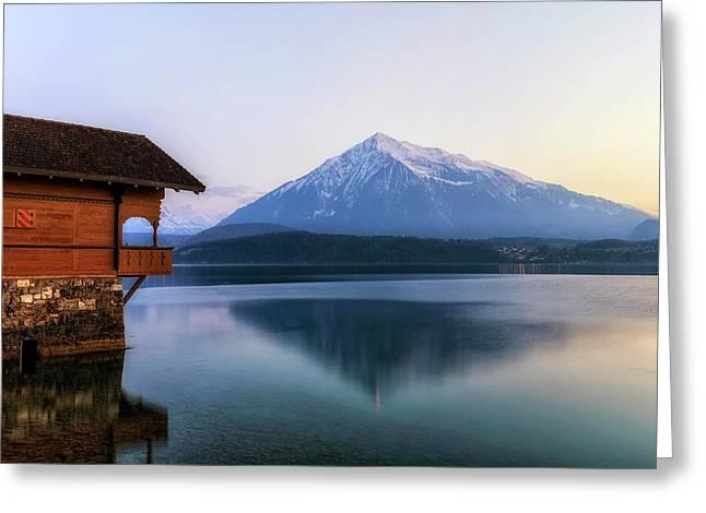 Lake Thun - Switzerland Greeting Card by Joana Kruse