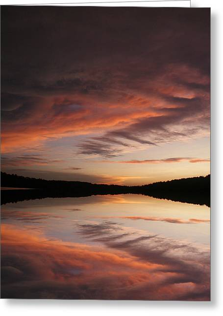 Greeting Card featuring the photograph Lake Thunderbird Sunset by Rick Friedle