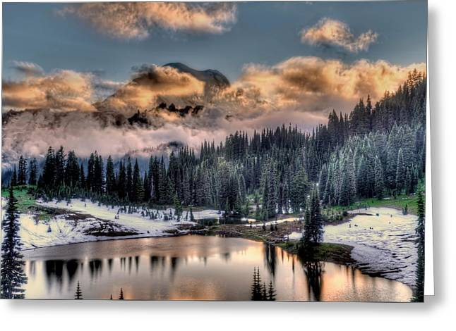 Lake Tipsoo, Mt Rainier Greeting Card by Greg Sigrist