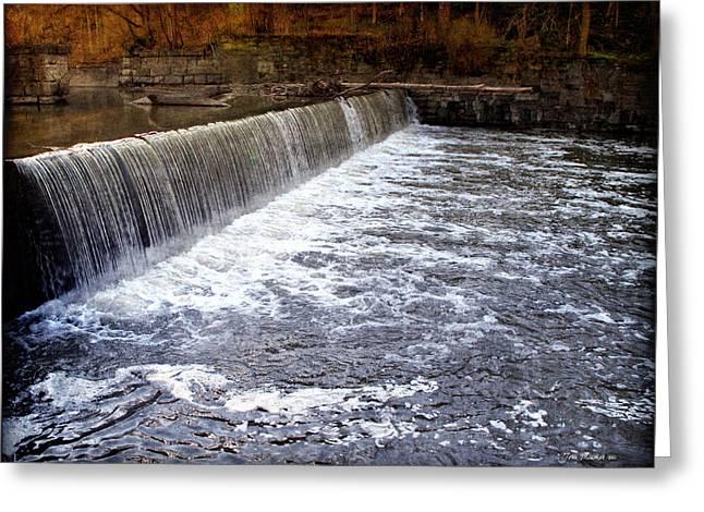 Lake To Lake Waterfall Greeting Card by Joan  Minchak