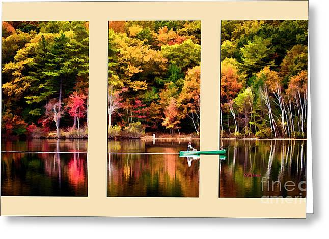 Lake Transition Greeting Card by Garland Johnson