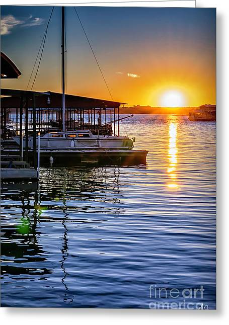 Greeting Card featuring the photograph Lake Travis by Walt Foegelle