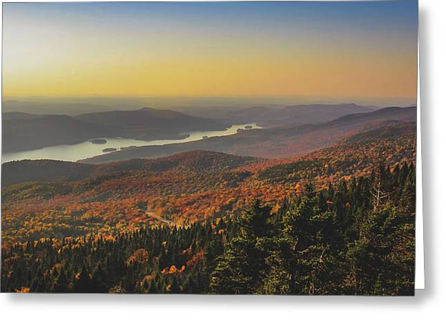 Lake Tremblant At Sunset Greeting Card