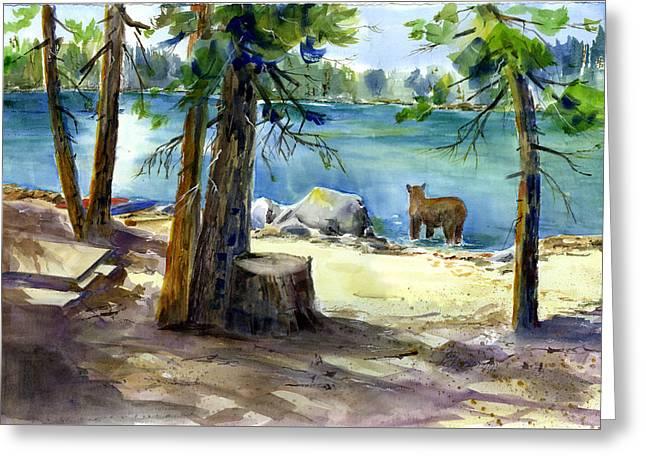 Lake Valley Bear Greeting Card
