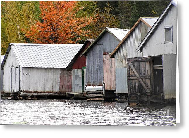 Lake Vermillion Boathouses Greeting Card
