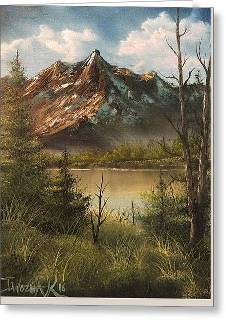 Lake View Mountain  Greeting Card