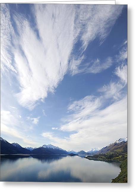 Lake Wakatipu Sky Greeting Card by Barry Culling