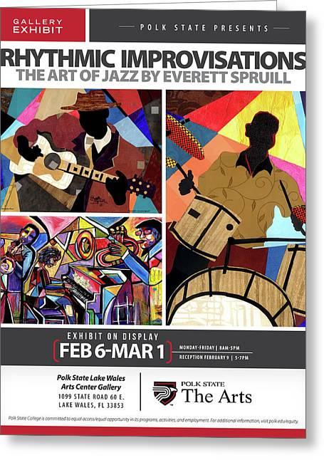 Rhythmic Improvisations - The Art Of Jazz Greeting Card