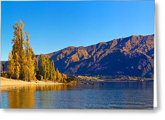 Lake Wanaka South Island New Zealand Nz Greeting Card by Bill  Robinson