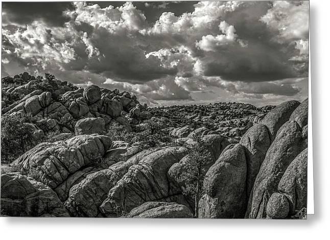 Lake Watson Granite Rocks Prescott Arizona Bnw 2482 Greeting Card