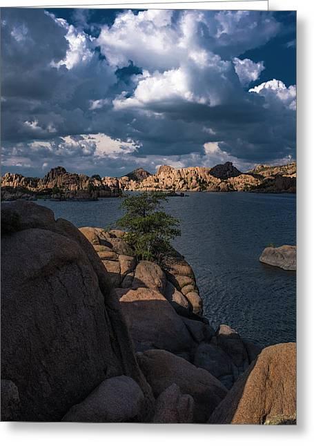 Greeting Card featuring the photograph Lake Watson Prescott Arizona 2498 by David Haskett