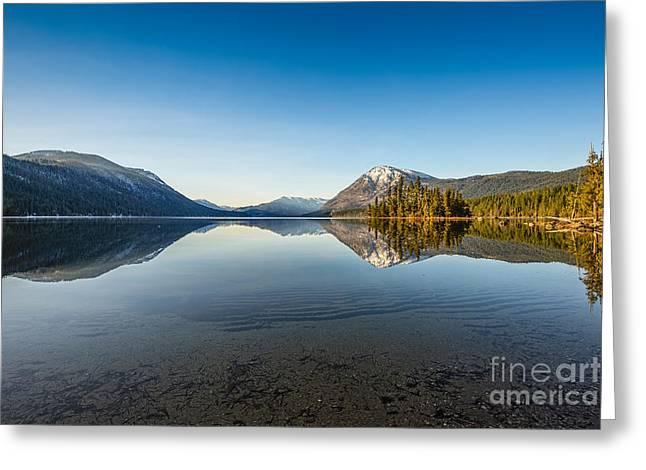 Lake Wenatchee In Washington State. Greeting Card by Jamie Pham