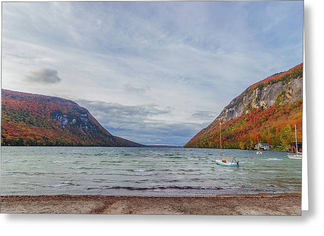 Lake Willoughby Blustery Fall Day Greeting Card