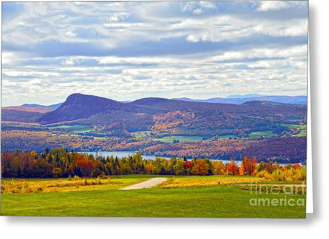 Lake Willoughby In Autumn Greeting Card by Catherine Sherman
