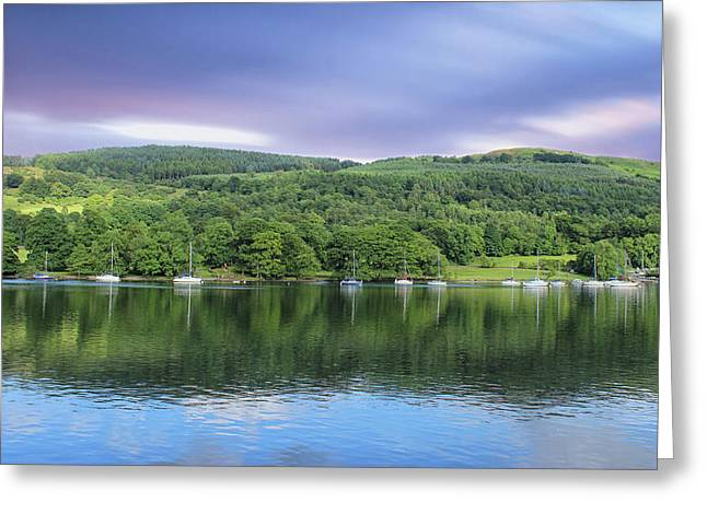 Lake Windermere Reflection Greeting Card