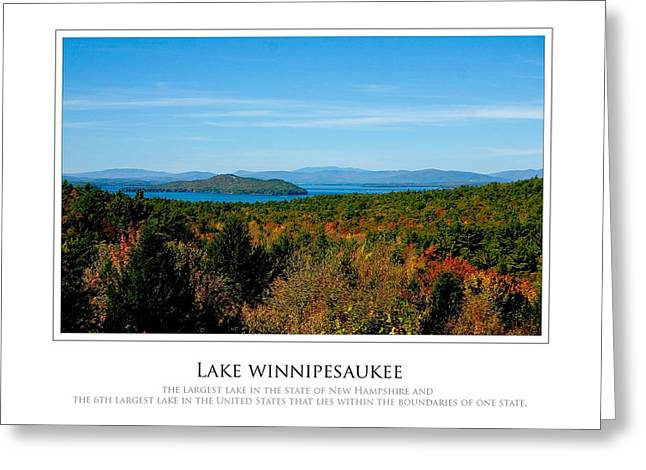 Lake Winnipesaukee - Fall Greeting Card by Jim McDonald Photography