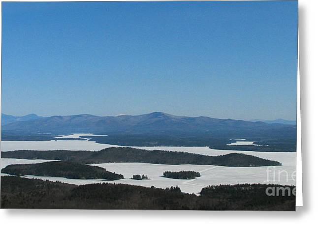 Lake Winnipesaukee View From Mt. Major Greeting Card by Michael Mooney