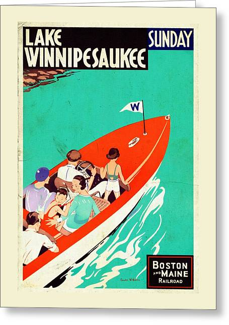 Lake Winnipesaukee - Vintagelized Greeting Card