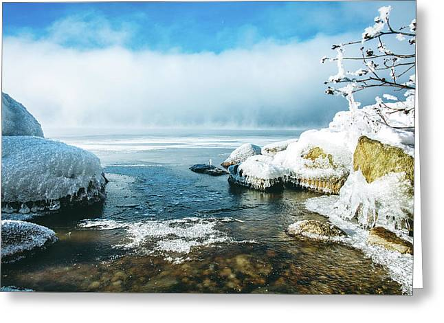 Greeting Card featuring the photograph Lake Winnisquam by Robert Clifford