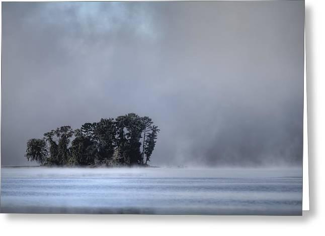 Lake Wylie Foggy Morning Greeting Card by Dustin K Ryan
