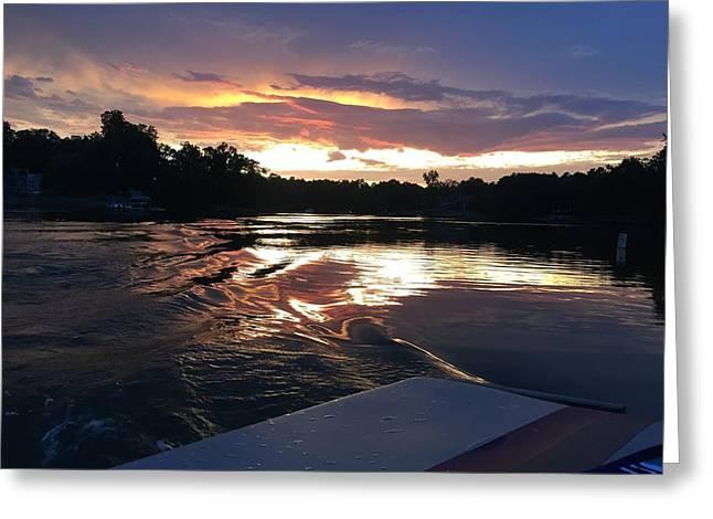 Lake Wylie Sunset Greeting Card by Daniel Egge