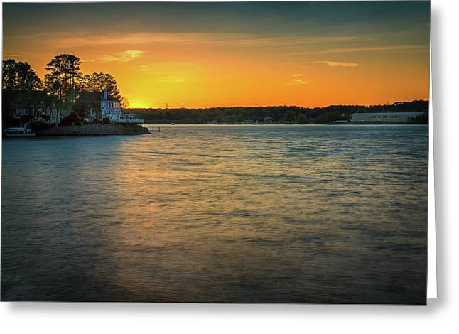 Lake Wylie Sunset Greeting Card by Michael Svach