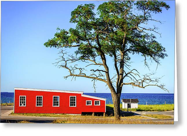 Greeting Card featuring the photograph Lakefront In Glen Arbor by Alexey Stiop