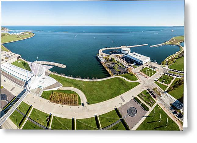 Greeting Card featuring the photograph Lakefront Panorama by Randy Scherkenbach