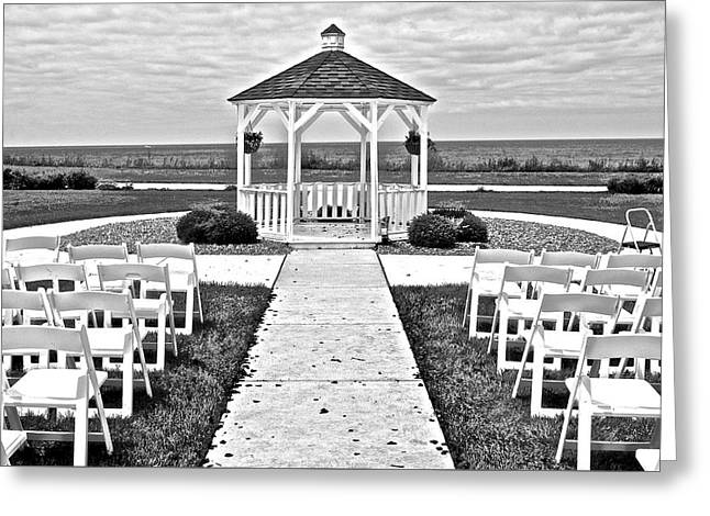 Lakefront Wedding Greeting Card by Frozen in Time Fine Art Photography