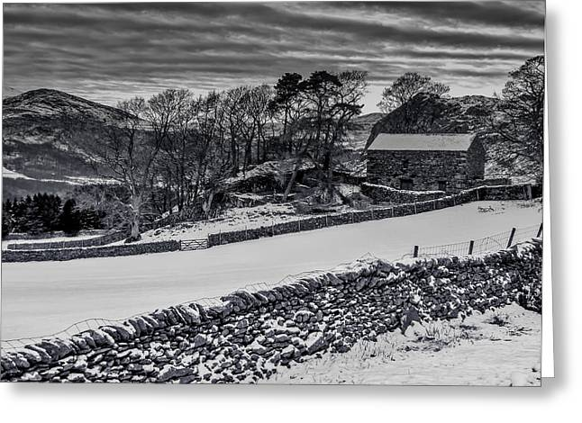 Lakeland Barn Greeting Card by Keith Elliott