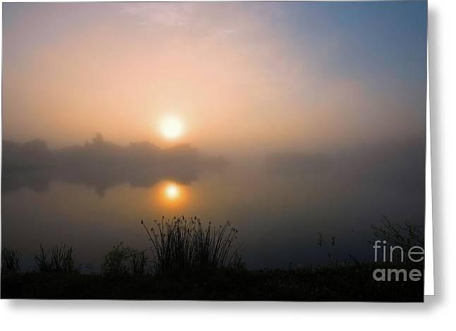 Lakeridge Fog Greeting Card by Ian McGregor