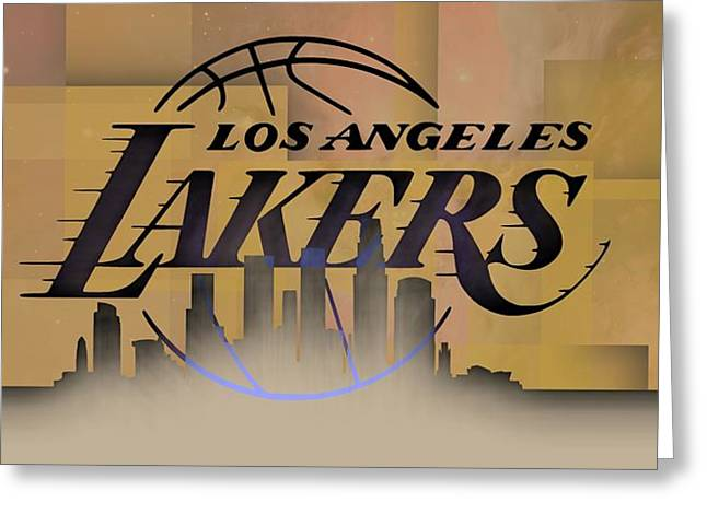 Lakers Skyline Greeting Card