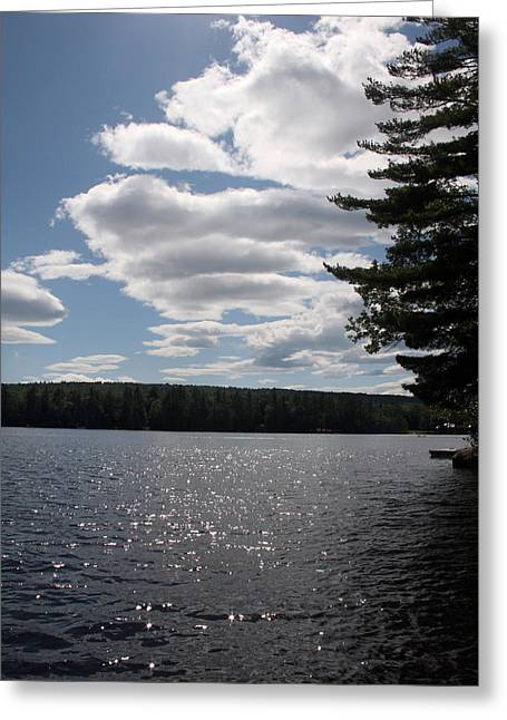 Lakescape Greeting Card by Jeff Porter